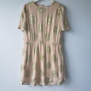 NSR chiffon elastic Waist mini dress size L